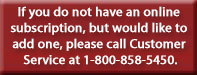 Call Customer Service at 800-858-5450 to order