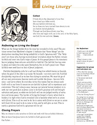 Living Liturgy Sunday Bulletin