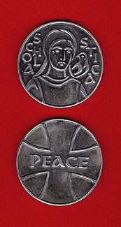 St. Scholastica Pewter Medallion