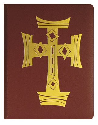 Red Binder Decorative Cross with Page Lifters for Loose-leaf Lectionary