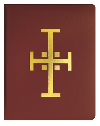 Red Binder Traditional Cross with Page Lifters for Loose-Leaf Lectionary