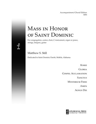 Mass in Honor of Saint Dominic , Accompaniment/Choir Edition