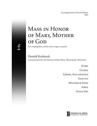 Mass in Honor of Mary, Mother of God