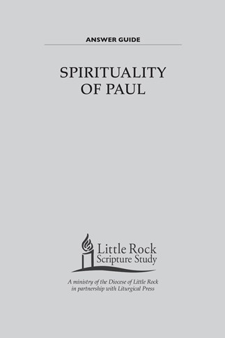 Spirituality of Paul—Answer Guide