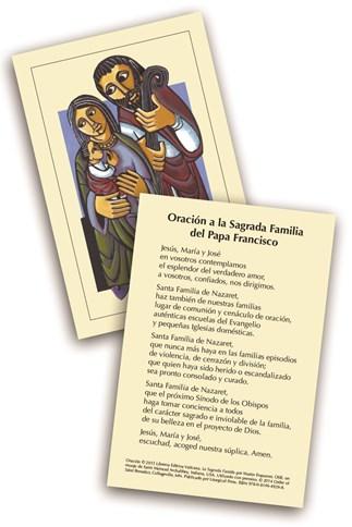 Oración a la Sagrada Familia del Papa Francisco