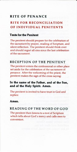 Rite of Penance