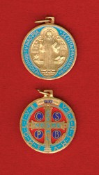 St. Benedict Gold-Plated Enameled Jubilee Medal