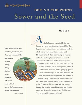 Seeing the Word: Sower and the Seed